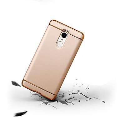 Недорогие Чехлы и кейсы для Xiaomi-Кейс для Назначение Xiaomi Xiaomi Redmi Note 4X / Xiaomi Redmi Note 4 / Xiaomi Redmi 4 Защита от удара / Ультратонкий Чехол Однотонный Твердый ПК