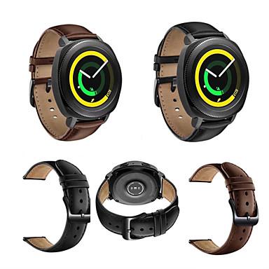voordelige Smartwatch-accessoires-Horlogeband voor Gear Sport / Gear S2 Classic / Huawei Watch 2 Samsung Galaxy Klassieke gesp Echt leer Polsband
