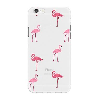voordelige iPhone X hoesjes-hoesje Voor Apple iPhone X / iPhone 8 Plus / iPhone 8 Patroon Achterkant Flamingo / dier / Cartoon Zacht TPU