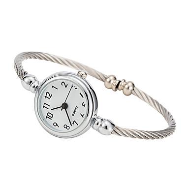 نسائي ساعات فاشن كوارتز فضة ساعة كاجوال مماثل أنيق الحد الأدنى - أبيض أسود