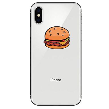 voordelige iPhone X hoesjes-hoesje Voor Apple iPhone XS / iPhone XR / iPhone XS Max Transparant / Patroon Achterkant Voedsel Zacht TPU