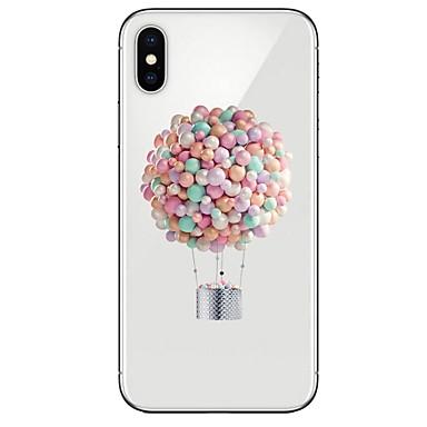 voordelige iPhone 8 hoesjes-hoesje Voor Apple iPhone X / iPhone 8 Plus / iPhone 8 Ultradun / Transparant / Patroon Achterkant Cartoon / Balloon Zacht TPU