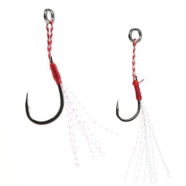 olcso Horgok-5 pcs Udica Horgok Vékony horog Tengeri halászat / Csalidobó / Sodort / Pergető horgászat / Folyóvíz horgászat / Pisztrángsügér horgászat / Csali horgászat / Általános horgászat