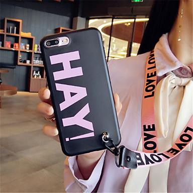 voordelige iPhone 6 Plus hoesjes-hoesje Voor Apple iPhone X / iPhone 8 Plus / iPhone 8 Patroon Achterkant Woord / tekst Zacht Siliconen
