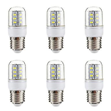BRELONG® 6PCS 3W 270lm E14 E26 / E27 أضواء LED ذرة 24 الخرز LED SMD 5730 أبيض دافئ أبيض 220-240V