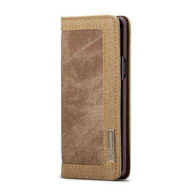 Недорогие Чехлы и кейсы для Galaxy S-Кейс для Назначение SSamsung Galaxy S9 Plus Кошелек / Бумажник для карт / Флип Чехол Однотонный Твердый текстильный