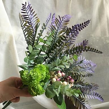 Flores Artificiales 4 0 Rama Rustico Ramos De Flores Para Boda