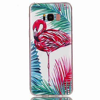 Недорогие Чехлы и кейсы для Galaxy S3-Кейс для Назначение SSamsung Galaxy S8 Plus / S8 / S7 edge С узором Кейс на заднюю панель Фламинго Мягкий ТПУ