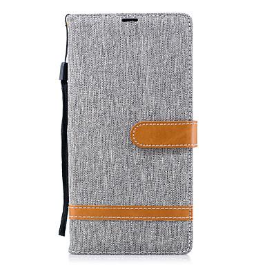Недорогие Чехлы и кейсы для Sony-Кейс для Назначение Sony Xperia XA2 Ultra / Xperia XA2 / Xperia XZ1 Compact Кошелек / Бумажник для карт / со стендом Чехол Сплошной цвет Твердый Кожа PU