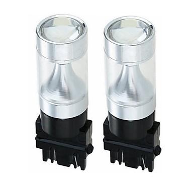 Недорогие Фары для мотоциклов-SENCART 2pcs 3157 Мотоцикл / Автомобиль Лампы 30W Интегрированный LED 1200lm 6 Светодиодные лампы Внешние осветительные приборы For