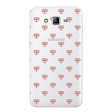 voordelige Galaxy J-serie hoesjes / covers-hoesje Voor Samsung Galaxy J7 (2017) / J7 (2016) / J7 Patroon Achterkant Hart Zacht TPU