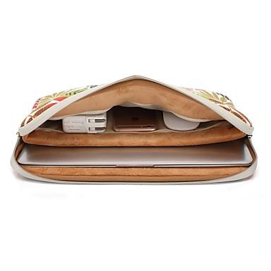 povoljno Maske za MacBook, torbe za MacBook i futrole za MacBook-rukavi stabla lišće cvijet platno torba za prijenosnik za MacBook Air 11.6 13.3 / macbook12 / macbook pro 13.3 15.4 / novi MacBook 15.4