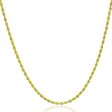 رجالي نسائي قلادات السلسلة روك موضة نحاس ذهبي قلادة مجوهرات 1PC من أجل هدية مناسب للبس اليومي