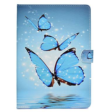 voordelige Samsung Tab-serie hoesjes / covers-hoesje Voor Samsung Galaxy Tab E 9.6 / Tab A 9.7 / Tab A 10.1 (2016) Kaarthouder / Schokbestendig / met standaard Volledig hoesje Vlinder Hard PU-nahka