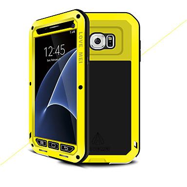 voordelige Galaxy S-serie hoesjes / covers-hoesje Voor Samsung Galaxy S7 Water / Dirt / Shock Proof Volledig hoesje Effen Kleur Hard Metaal
