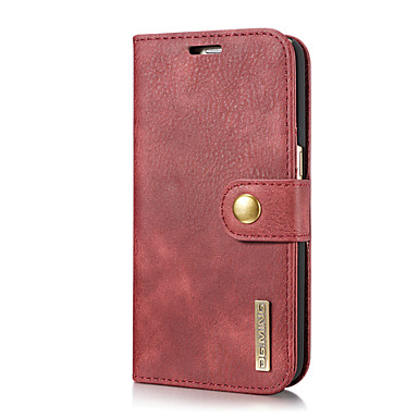 DG.MING hoesje Voor Samsung Galaxy S7 Kaarthouder / met standaard / Flip Volledig hoesje Effen Hard aitoa nahkaa voor S7