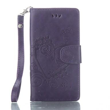 Недорогие Чехлы и кейсы для Sony-Кейс для Назначение Sony Sony Xperia XA / Sony Xperia X Кошелек / Бумажник для карт / со стендом Чехол Бабочка Твердый Кожа PU