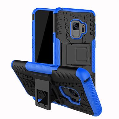 Недорогие Чехлы и кейсы для Galaxy S-Кейс для Назначение SSamsung Galaxy S9 / S9 Plus / S8 Plus Защита от удара / со стендом Кейс на заднюю панель Полосы / волосы Твердый ПК