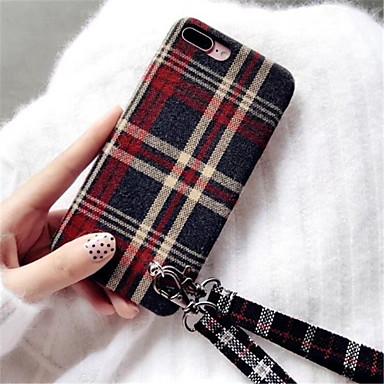 voordelige iPhone X hoesjes-hoesje Voor Apple iPhone X / iPhone 8 Plus / iPhone 8 Patroon Achterkant Effen Zacht tekstiili