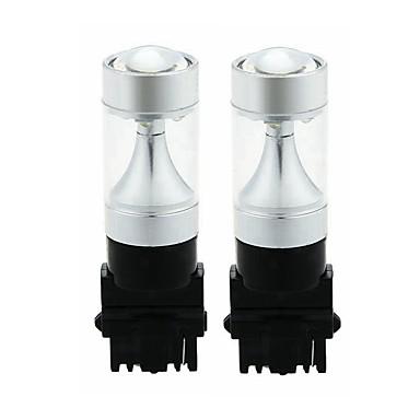 Недорогие Фары для мотоциклов-SENCART 2pcs 3156 Мотоцикл / Автомобиль Лампы 30W Интегрированный LED 1200lm 6 Светодиодные лампы Внешние осветительные приборы For