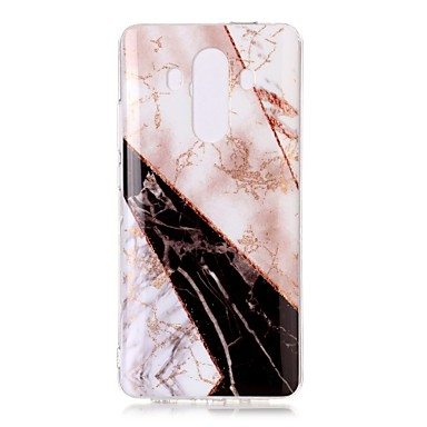 voordelige Huawei Mate hoesjes / covers-hoesje Voor Huawei Mate 10 pro / Mate 10 lite IMD / Patroon Achterkant Glitterglans / Marmer Zacht TPU