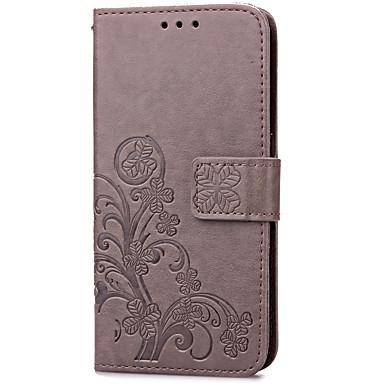 Недорогие Чехлы и кейсы для Galaxy S-Кейс для Назначение SSamsung Galaxy S7 edge / S7 Бумажник для карт / со стендом / Флип Чехол Цветы Твердый Кожа PU