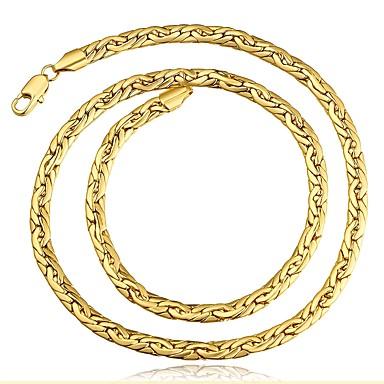 Недорогие Ожерелья-Муж. Ожерелья-бархатки Цепь Foxtail Классика Медь Розовое золото Золотой Ожерелье Бижутерия 1 Назначение Подарок Повседневные
