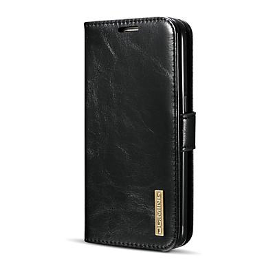 levne Galaxy S pouzdra / obaly-DG.MING Carcasă Pro Samsung Galaxy S7 Pouzdro na karty / se stojánkem / Flip Celý kryt Jednobarevné Pevné Pravá kůže pro S7