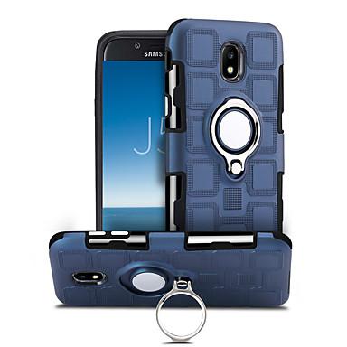 voordelige Galaxy J-serie hoesjes / covers-hoesje Voor Samsung Galaxy J5 (2017) 360° rotatie / Schokbestendig / Ringhouder Achterkant Effen Hard PC