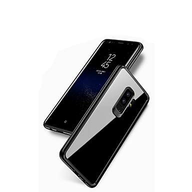 Недорогие Чехлы и кейсы для Galaxy S-Кейс для Назначение SSamsung Galaxy S9 / S9 Plus / S8 Plus Зеркальная поверхность / Прозрачный Кейс на заднюю панель Сплошной цвет Мягкий Силикон
