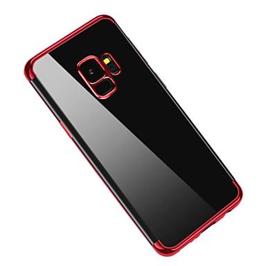 Недорогие Чехлы и кейсы для Galaxy S-Кейс для Назначение SSamsung Galaxy S9 / S9 Plus / S8 Plus Покрытие / Полупрозрачный Кейс на заднюю панель Однотонный Мягкий ТПУ
