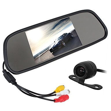 Недорогие Камеры заднего вида для авто-ZIQIAO 4.3 дюймовый CCD Проводное 170° Комплект заднего вида для автомобилей Водонепроницаемый / Многофункциональный дисплей для Автомобиль