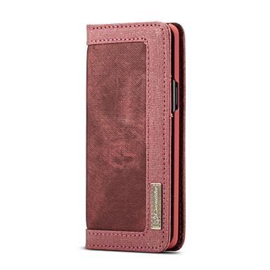 Недорогие Чехлы и кейсы для Galaxy S-Кейс для Назначение SSamsung Galaxy S9 Кошелек / Бумажник для карт / Флип Чехол Однотонный Твердый текстильный