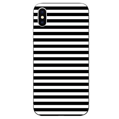 voordelige iPhone 6 Plus hoesjes-hoesje Voor Apple iPhone X / iPhone 8 Plus / iPhone 8 Patroon Achterkant Lijnen / golven Zacht TPU