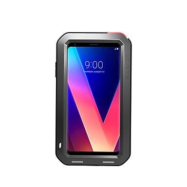 رخيصةأون LG أغطية / كفرات-غطاء من أجل LG LG V30 / LG V20 الماء / التراب / والدليل على الصدمة غطاء كامل للجسم لون الصلبة قاسي معدن