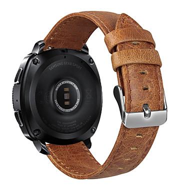 voordelige Horlogebandjes voor Samsung-Horlogeband voor Gear Sport / Gear S2 Classic Samsung Galaxy Klassieke gesp Echt leer Polsband