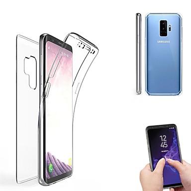Недорогие Чехлы и кейсы для Galaxy S-Кейс для Назначение SSamsung Galaxy S9 / S9 Plus / S8 Plus Полупрозрачный Чехол Однотонный Мягкий Силикон