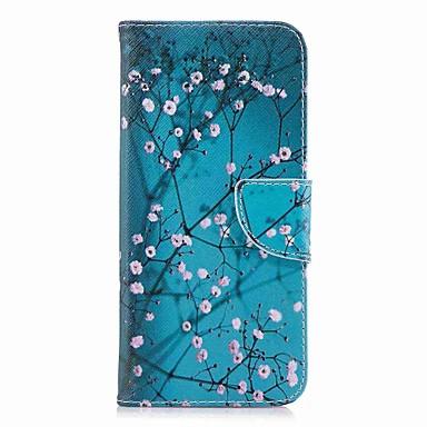 voordelige Galaxy S-serie hoesjes / covers-hoesje Voor Samsung Galaxy S9 / S9 Plus / S8 Plus Portemonnee / Kaarthouder / met standaard Volledig hoesje Bloem Hard PU-nahka