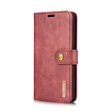 Недорогие Чехлы и кейсы для LG-DG.MING Кейс для Назначение LG V30 / V20 Бумажник для карт / со стендом / Флип Чехол Однотонный Твердый Настоящая кожа для LG V30 / LG V20