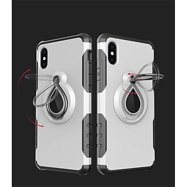 voordelige iPhone 6 hoesjes-hoesje Voor Apple iPhone X / iPhone 8 Plus / iPhone 8 Schokbestendig / Ringhouder Achterkant Schild Zacht TPU