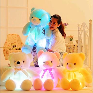 olcso Plüssjátékok-Romantika Kreatív Teddi maci Punjene i plišane igračke Szeretetreméltő LED Szilikon Lány Játékok Ajándék