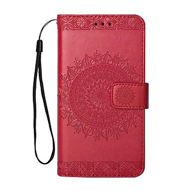 abordables Coques d'iPhone-Coque Pour Apple iPhone X / iPhone 8 Plus / iPhone 8 Portefeuille / Porte Carte / Avec Support Coque Intégrale Couleur Pleine Dur faux cuir
