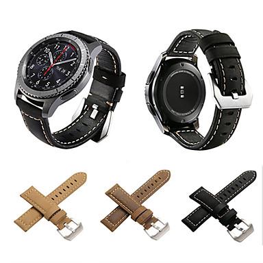 Недорогие Часы для Samsung-Ремешок для часов для Gear S3 Frontier / Gear S3 Classic / Gear S3 Classic LTE Samsung Galaxy Классическая застежка Натуральная кожа Повязка на запястье