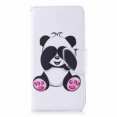 رخيصةأون Huawei أغطية / كفرات-غطاء من أجل Huawei P10 Lite / P10 / P9 lite mini محفظة / حامل البطاقات / مع حامل غطاء كامل للجسم باندا قاسي جلد PU