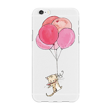 voordelige iPhone 6 hoesjes-hoesje Voor Apple iPhone X / iPhone 8 Plus / iPhone 8 Patroon Achterkant dier / Cartoon / Balloon Zacht TPU