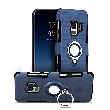 Недорогие Чехлы и кейсы для Galaxy S-Кейс для Назначение SSamsung Galaxy S9 Поворот на 360° / Защита от удара / Кольца-держатели Кейс на заднюю панель Сплошной цвет Твердый ПК