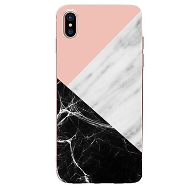 Θήκη Za Apple iPhone X / iPhone 8 Plus / iPhone 8 Ultra tanko / Uzorak Stražnja maska Geometrijski uzorak / Mramor Mekano TPU