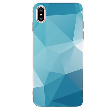 Недорогие Кейсы для iPhone-Кейс для Назначение Apple iPhone X / iPhone 8 Pluss / iPhone 8 Ультратонкий / С узором Кейс на заднюю панель Геометрический рисунок Мягкий ТПУ