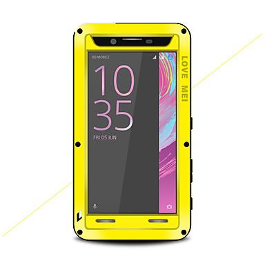 olcso Sony tokok-Case Kompatibilitás Sony Sony Xperia X Performance Víz / Dirt / ütésálló Héjtok Tömör szín Kemény Fém