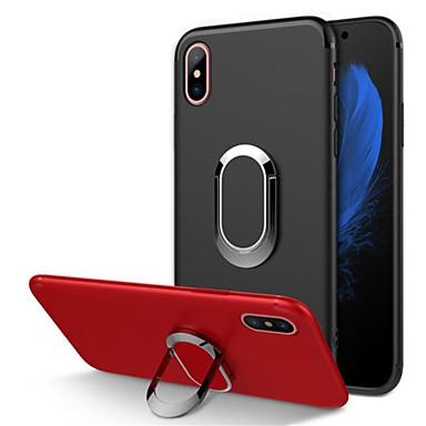 voordelige iPhone 6 hoesjes-hoesje Voor Apple iPhone X / iPhone 8 Plus / iPhone 8 Ringhouder / Mat Achterkant Schild Zacht TPU